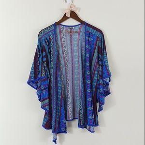 Earthbound Open Front Wide Sleeve Drape Kimono